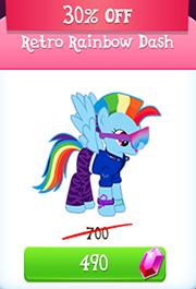 Retro rainbow dash store