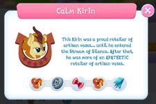 Calm Kirin info