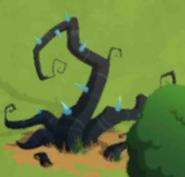 Middle stuck vine