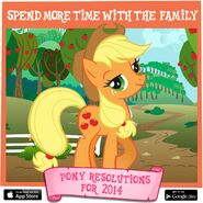 Pony Resolutions 2014 Applejack