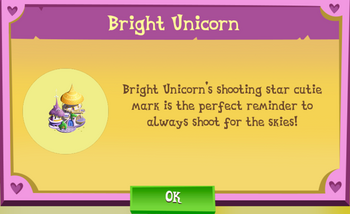 Bright Unicorn Description