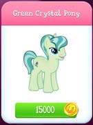 Green Crystal Pony store unlocked
