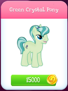 Green Crystal Pony store unlocked