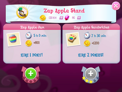 Zap Apple Stand Products