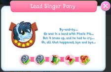 Lead Singer Pony Album Description