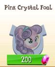 Pink crystal foal!