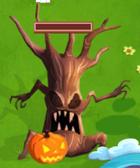 Wicked tree on halloween