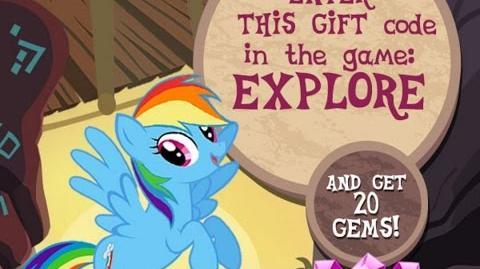 20 FREE GEMS - APRIL 2017 - My Little Pony Friendship is Magic - GAMELOFT - 20 Gemas Gratis Abril