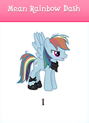 Mean rainbow dash inventory