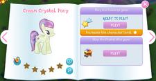 Cream Crystal Pony album