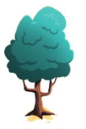 Sturdy aquamarine tree