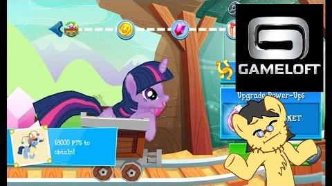Twilight Sparkle in Minecart. My Little Pony Friendship is Magic (Gameloft) Mini Game. @Gameloft