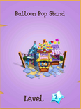 Balloon Pop Stand Store Locked