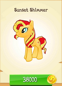 Sunset Shimmer store unlocked