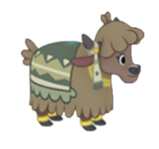 Bright-Eyed Yak Calf Character Image