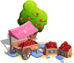 Apple Market Cart