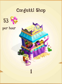 Confetti Shop Inventory