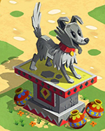 Faithful pup statue