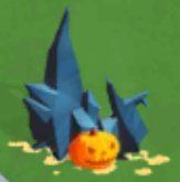 Black shards on halloween