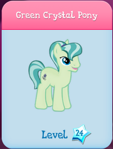 Green Crystal Pony Store Locked