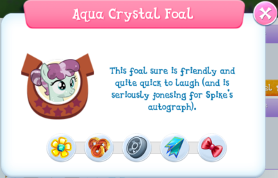 Aqua Crystal Foal album description