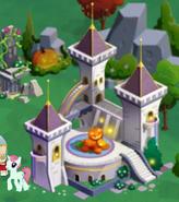 Cutie castle on halloween