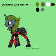 Unicorn Red armord