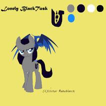 Lonely Black Tusk