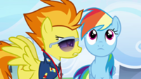 201px-Spitfire talking at Rainbow's face S3E07