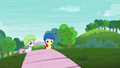 Apple Bloom and Sweetie Belle watches Scootaloo's scooter performance S6E4.png