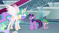 Celestia accepting Twilight Sparkle's offer S8E7