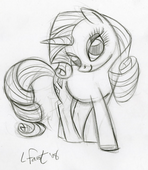 Lauren Faust Rarity sketch