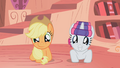 Overjoyed Applejack and Rarity S01E08.png