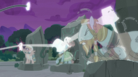 Pillars of Equestria's artifacts join the chain of light S7E25