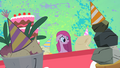 Pinkie Pie listening to her inanimate friends S1E25.png