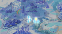 Pinkie and Rarity's cutie marks drift over the map S6E12