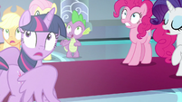Ponies and Spike see the bright light S9E24
