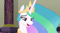 Princess Celestia trying to answer S8E1
