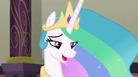 Princess Celestia trying to answer S8E1