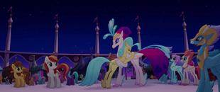 Princess Skystar hugging Queen Novo MLPTM