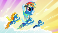 Rainbow Dash's dream made real S6E7