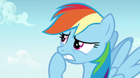 Rainbow Dash thinking quickly S7E14
