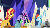 Sunset Shimmer worried about her friends EGSB
