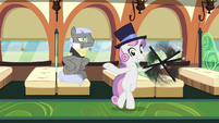 Sweetie Belle dancing with Caesar's cane S9E22