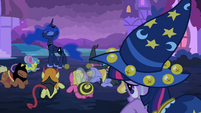 The ponies bow down before Princess Luna S2E04