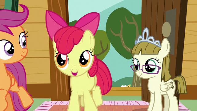 File:Apple Bloom encouraging Sweetie Belle S7E6.png