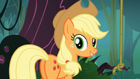 "Applejack ""saw the balloon floating by"" S03E09"