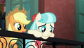 Applejack approaches Coco on the balcony S5E16.png