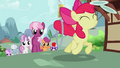 Cheerilee and her students follow Apple Bloom S2E06.png