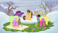 Cherry Berry, Daisy, and Caramel on a grassy spot S5E5.png